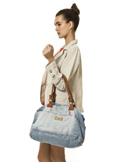 bolsa jeans de mão