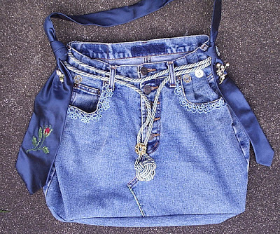 bolsa jeans diferente