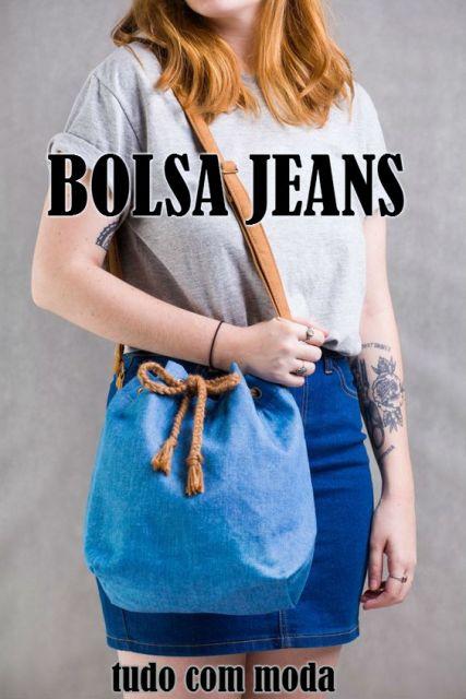bolsa jeans tipo de bolsa