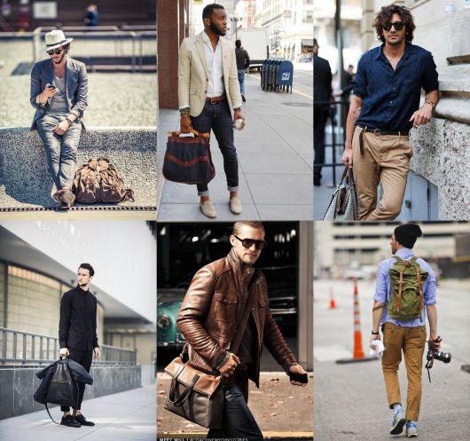 bolsa masculina como usar