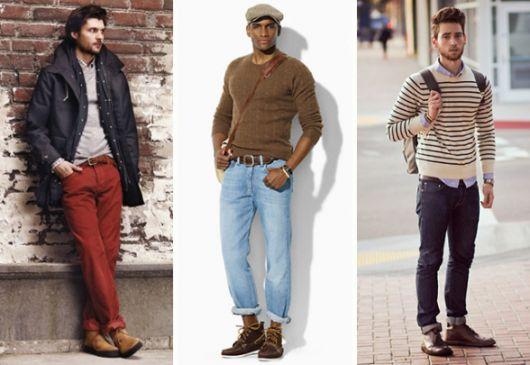 bota masculina calça dobrada