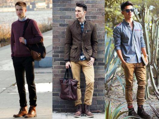 bota masculina com calça