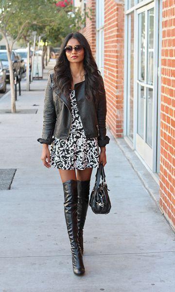 look jaqueta de couro