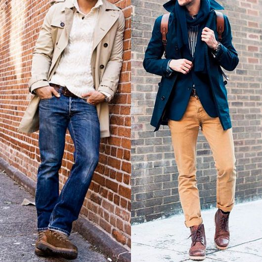 botas masculinas com sobretudo