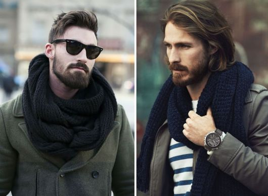 cachecol masculino lindo