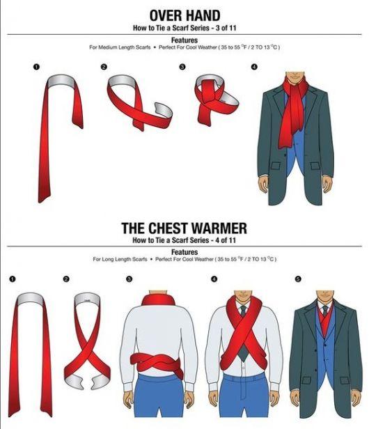 cachecol masculino como amarrar