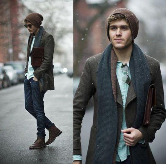 cachecol masculino para o frio