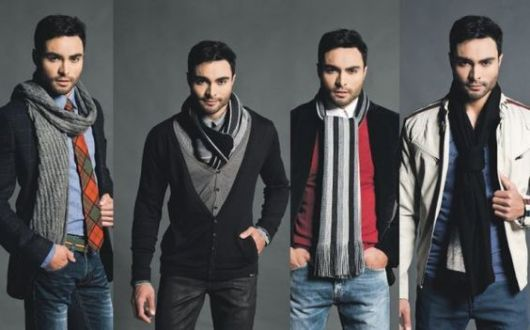 cachecol masculino - estilo