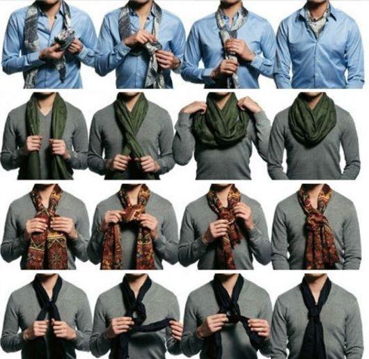 cachecol masculino amarração
