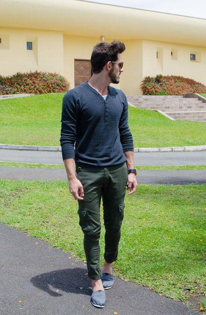 calça cargo look moderno