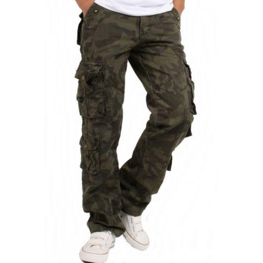 calça cargo masculina camuflada militar