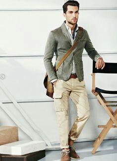 calça cargo masculina casual para o dia a dia