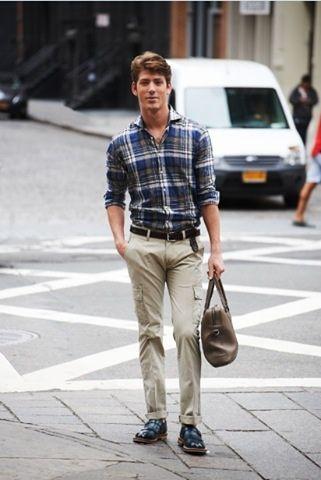 calça cargo masculina com listras