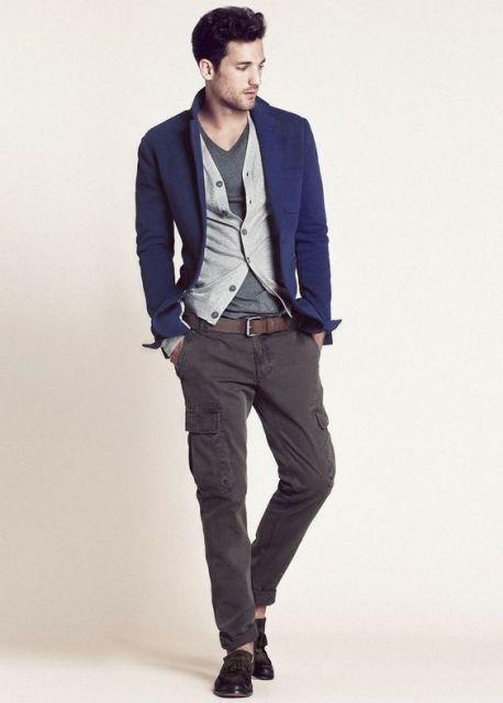 calça cargo masculina exemplo de look