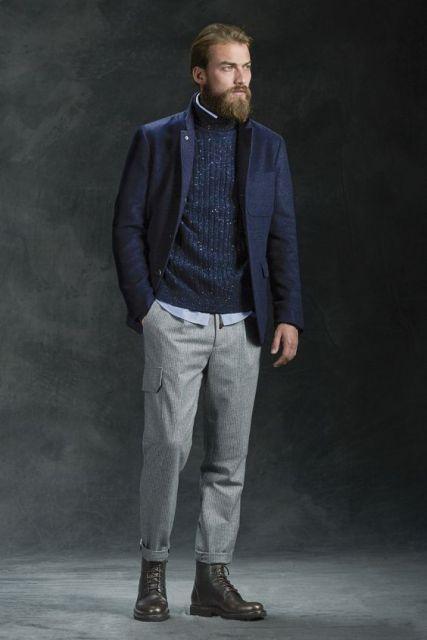 calça cargo masculina fashion sofisticada