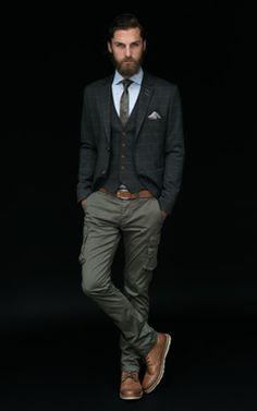 calça cargo masculina look formal