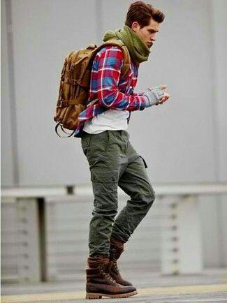 calça cargo masculina look inverno