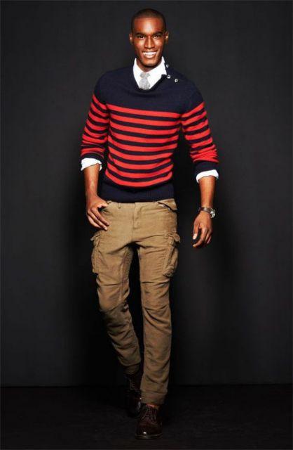 calça cargo masculina look social