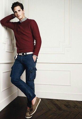 calça cargo masculina tipo jeans
