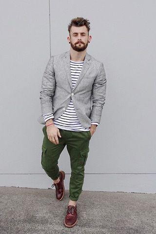 calça cargo masculina verde