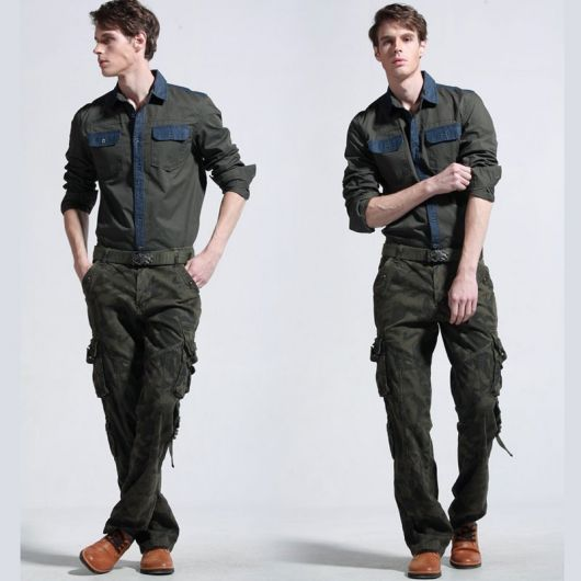 calça cargo militar estilo