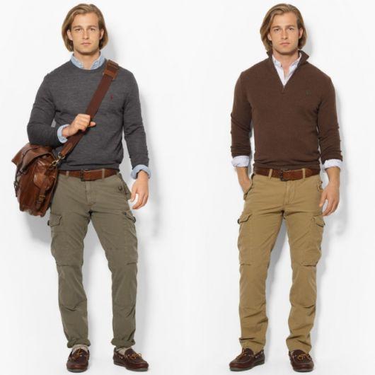 calça cargo padrão look