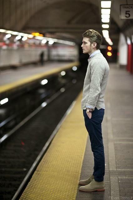 calça chino azul masculina