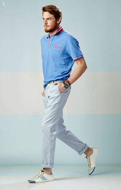 calça chino clara