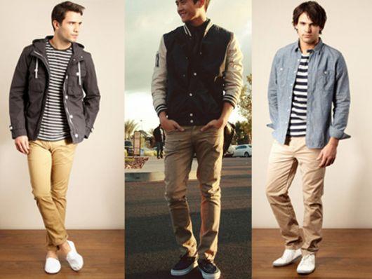 calça chino e blusa como usar