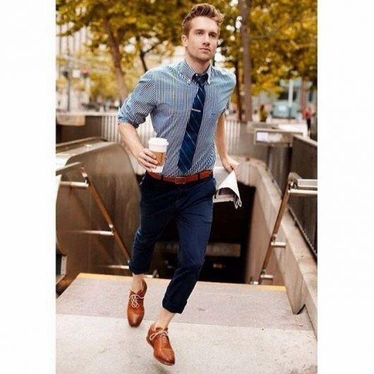 calça chino e roupa social