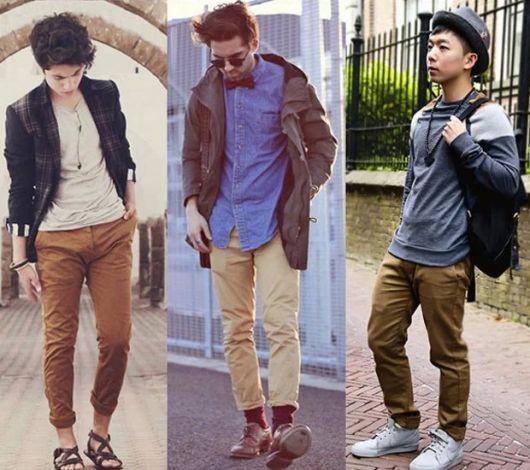 calça chino homens looks