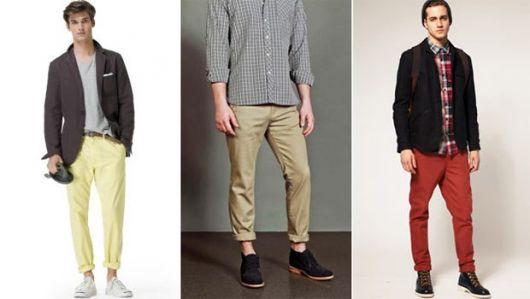 calça chino homens tipos de looks