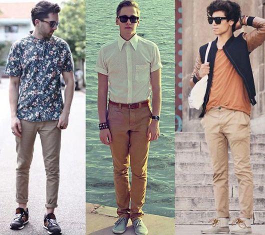 calça chino masculina como usar