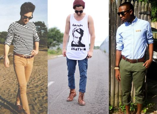 calça chino para homens looks
