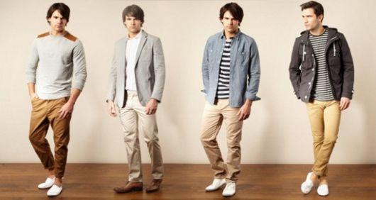 calça chino vários estilos homem