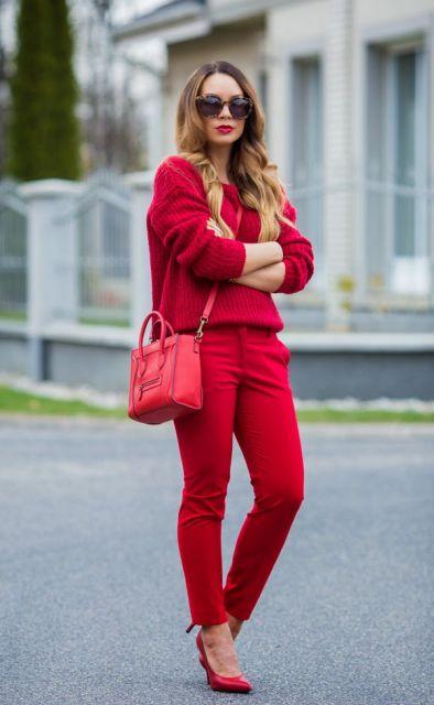 look vermelho