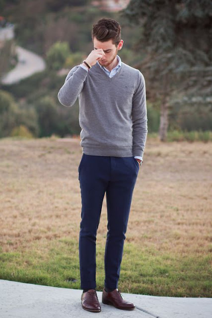 calça colorida masculina azul dia a dia