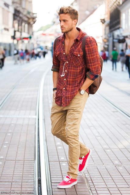 calça colorida masculina marrom caqui