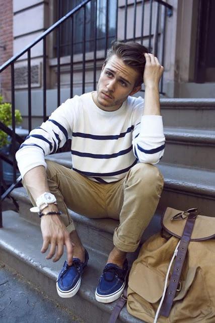 calça colorida masculina marrom casual