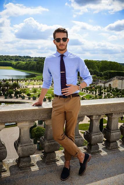 calça colorida masculina marrom