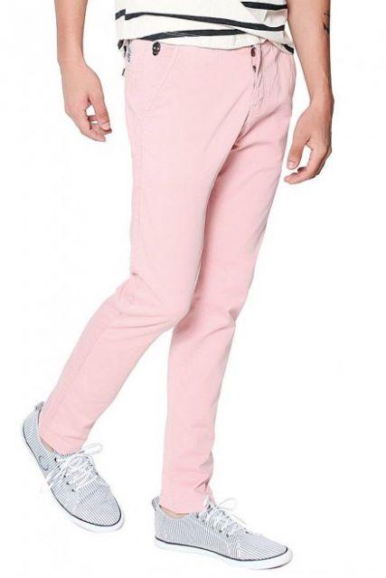 calça colorida masculina rosa
