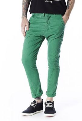 calça colorida masculina verde clara
