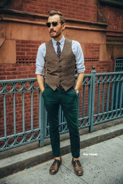 calça colorida masculina verde escuro
