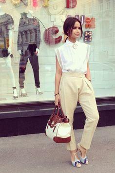 calça cropped como combinar com blusa