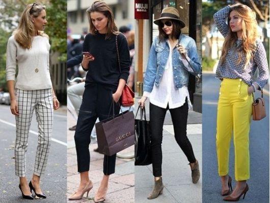 calça cropped ideias e estilos