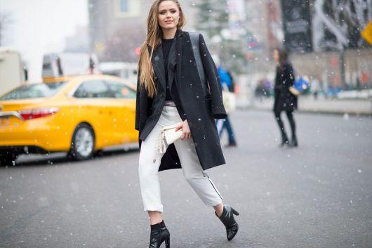 calça cropped para o inverno