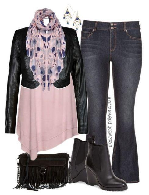 calça flare plus jeans ideia de look