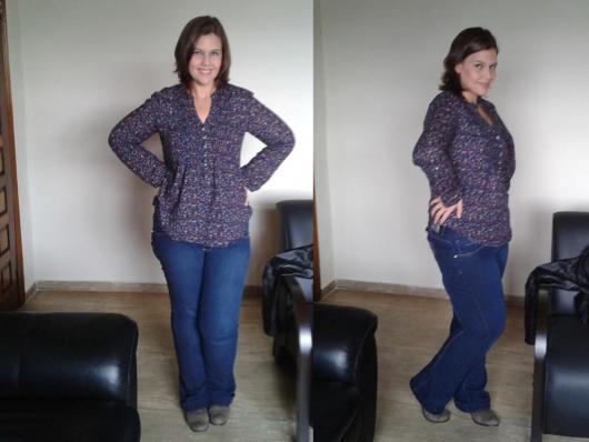 calça flare plus jeans