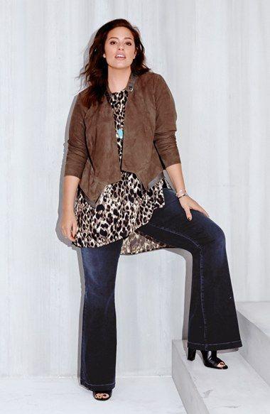 calça flare plus size fashion