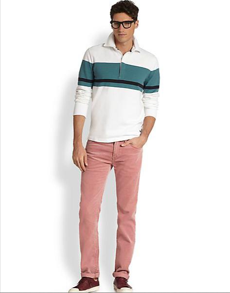 calça rosa casual